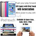 NEW Apple 64GB iPod Touch 6th Gen W/Face Time, Retina Display  & HD Video Recording