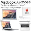 "Apple 13.3"" 256GB MacBook Air 1.6GHz Intel Core i5 Aluminum Notebook W/AppleCare 3YR Protection Plan"