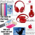 FREE $50 iTunesCard W/Apple32GB iPodTch 6thGen, BeatsBy Dr.Dre Studio Wireless Headphones&AppleCare+