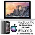 Ultimate Apple Gift Bundle Featuring Apple 13.3' MacBook Pro i5 Notebook & 16GB iPhone 6 *UNLOCKED*