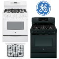 """GE Profile 30"""" Free Standing Gas Convection Range-Available In White Or Black"""