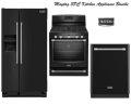 Maytag 3-Piece Black Kitchen Appliance Package-Refrigerator, Range & Dishwasher