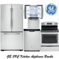 GE 3-Piece Stainless Steel Kitchen Appliance Package-Refrigerator, Range & Dishwasher
