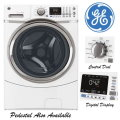 GE 4.3 Cu. Ft. Front Load Steam Washer-Available In White