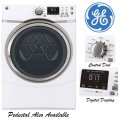 GE 7.5 Cu. Ft. Front Load Electric Steam Dryer-Available In White