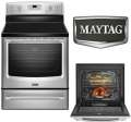 "Maytag 30"" Stainless Steel Freestanding Electric Convection Range"