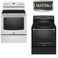 "Maytag 30"" Freestanding 6.2 Cu Ft Electric Convection Range -Available In White Or Black"