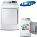 Samsung 7.4 Cu. Ft. White Top Load Electric Dryer Featuring 9 Preset Drying Cycles