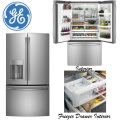 GE 27.8 Cu. Ft. French Door Bottom Freezer Refrigerator in Stainless Steel Finish