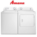 Bundle Up & Save With Amana Washer/Dryer Bdl In Electric Featuring 9-Wash Cycles & 11-Dry Cycles