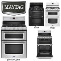 Maytag Gemini Freestanding Gas Convection Double Oven Range-Available in Stainless, Black, Or White
