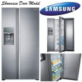 Samsung 21.5 Cu Ft Side by Side Stainless Steel Refrigerator Featuring Food Showcase Door