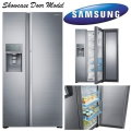 Samsung 28.5 Cu Ft Side by Side Stainless Steel Refrigerator Featuring Food Showcase Door