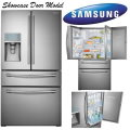 Samsung 29.5 CF Showcase French Door Dbl Bottom Drawer Freezer/Refrigerator-Available In Stainless