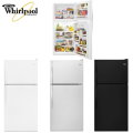 Whirlpool 18.2 Cu.Ft. Monochromatic Top-Freezer Refrigerator-Available In Stainless, White, Or Black