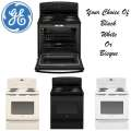 "GE 30"" 5.0 Cu. Ft. Free-Standing Electric Range - Available In Black, White, Or Bisque"