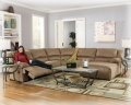 Fill Up The Entire Family Room W/This Big 5-PC Sectional &amp; We Have Even Included The 3-PC Table Set