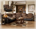 Two-Toned Contemporary Design 3-PC Motion Sectional Featuring Plush Comfort