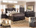 """FREE 24"""" LED HDTV W/This Exciting Modern Bedroom Pkg Featuring Storage On Headboard, Footboard&Rails"""