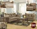 Best Value; FREE Lamps W/5PC Combo Package Featuring Plush Pillow Back Design In Mocha Upholstery