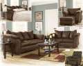 Extreme Living Room Makeover Featuring 13PC Total Room Package In Warm & Inviting Cafe Color