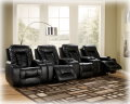Watch The Big Game In Your New Home Theater Featuring 4-Blended Leather Power Recliners
