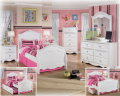 FrenchCountry Design 6PC Room Package Featuring Satin Nickel Hardware & Stylish Appliques & Rosettes
