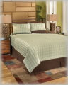 Gridlock-Thistle Collection 4-Piece Queen Bedding Set