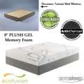 New Wave 8� Gel Full Mattress Plus Foundation; Cradle And Support Your Body In Pure Elegance