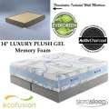 New Wave Best In Class 14� Gel Kg Mattress + Foundation; Cradle & Support Your Body In Elegance