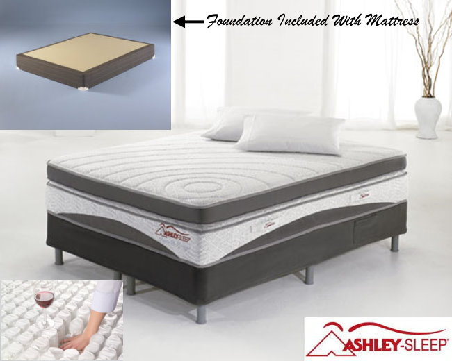 "Ashley Sleep 14"" Gel Hybrid Santa Fe Springs Qn Mattress"