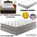 "Long Peak 11"" Firm Innerspring VertiCoil Fl Mattress + Foundation; For A Traditional Feel"