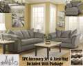 Plush Comfort 13PC Living Room Package Featuring Sweeping Padded Arms & Plush Pillow Back Design