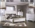 Grand Contemporary Design 6PC Bedroom Set Featuring Ftbd Storage Bed In A Clean Painted White Finish