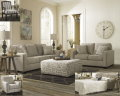 4PC Vintage Casual LivingRm Collection Featuring PrintDesign Ottoman, Matching AccentChair & Pillows
