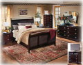 Sophistication Comes Alive With This 7-Piece Bedroom Package Featuring Dark Merlot Finish