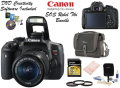 Canon EOS RebelT6i DSLR Camera And EF-S 18-55mm f/3.5-5.6 IS STM Lens,-Bundle W/ Camera Case & More
