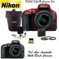 Nikon D5500 DSLR Camera Kit With 18-55mm Lens, 32GB Memory Card, & More - Available In Red Or Black