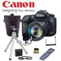 Canon EOS 7D Mark II DSLR Camera W/ EF-S 18-135mm Lens, 32GB Memory Card, & More-Available In Black
