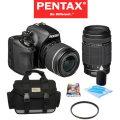 Pentax K-50 DSLR Camera W/ 18-55mm & 55-300mm Lenses Bundled W/ Bag, 16GB SDHC Card, And More