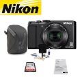 Nikon COOLPIX S9900 Camera Bundle Featuring Lowepro Dashpoint 20 Camera Pouch & More