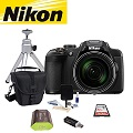 Nikon COOLPIX P610 Camera Bundle Featuring Lowepro Rezo Holster-Style Bag, Battery Pack & More