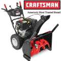 Craftsman 28' 243cc Dual-Stage Snow Blower With Quiet Engine