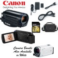 Canon VIXIA HF R600 Camcorder With 16GB Memory Card & Bag - Available In Black Or White