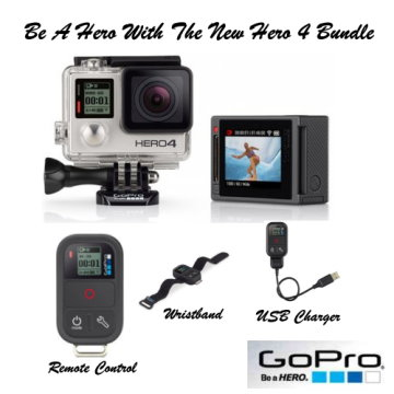 GoPro Hero4 Silver Action Camera With Smart Black Remote Control
