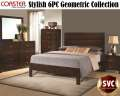 Stylish6PC  Collection That's The Focal Point Of Your Bedroom Featuring A Geometric Shape