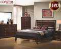 Unique 6PC Bedroom Featuring A Distinctive Cutout Headboard With Sleek Lines & Beautiful Details