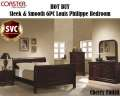 HOT BUY; Sleek&Smooth 6PC Bedroom Collection Featuring Louis Philippe Design In A Rich Cherry Finish