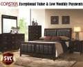 Clean & Contemporary 6PC Bedroom Pkg In Cappuccino Featuring ExceptionalValue & Low Monthly Payments