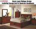 Style & Function Combine W/This Trad Classic In A Cherry Finish W/Storage Bed W/Bookcase Headboard